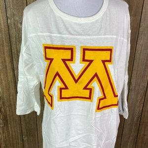 Boxercraft Womens Minnesota Gophers White Yellow M